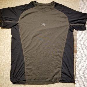 arc'teryx velox crew short sleeve t-shirt men dark